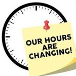 our hours are changing