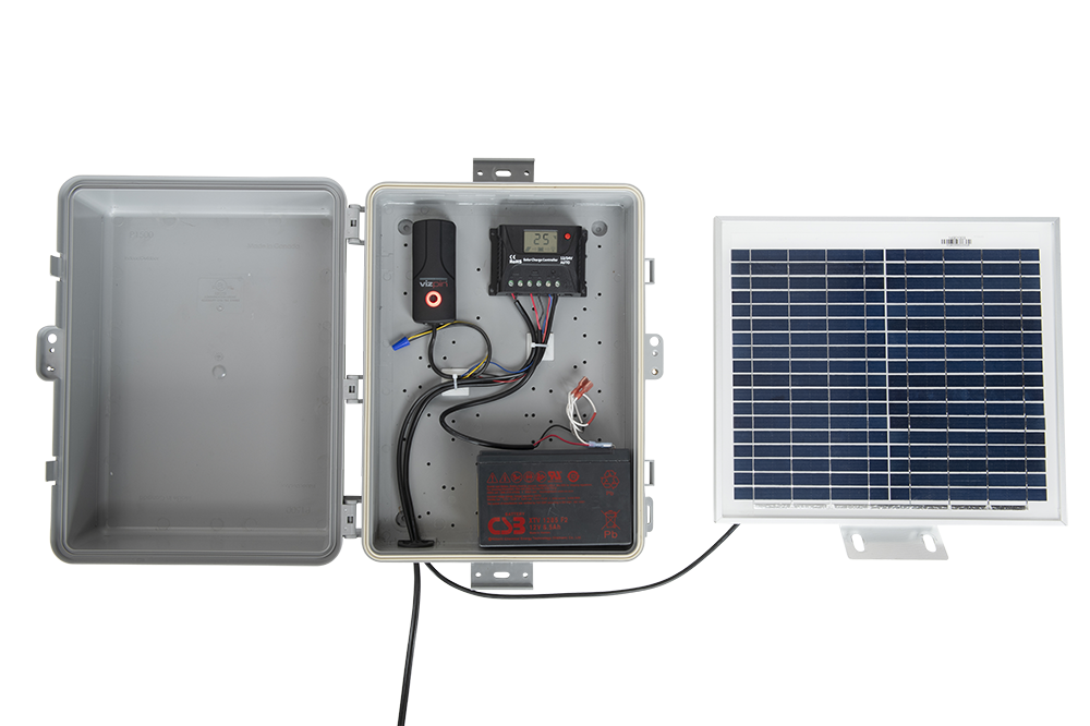 VIZpin Solar Kit: The Perfect Access Control Option Where It's Difficult to Get Power or Network