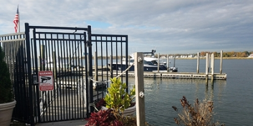Marina Dock Security Gate